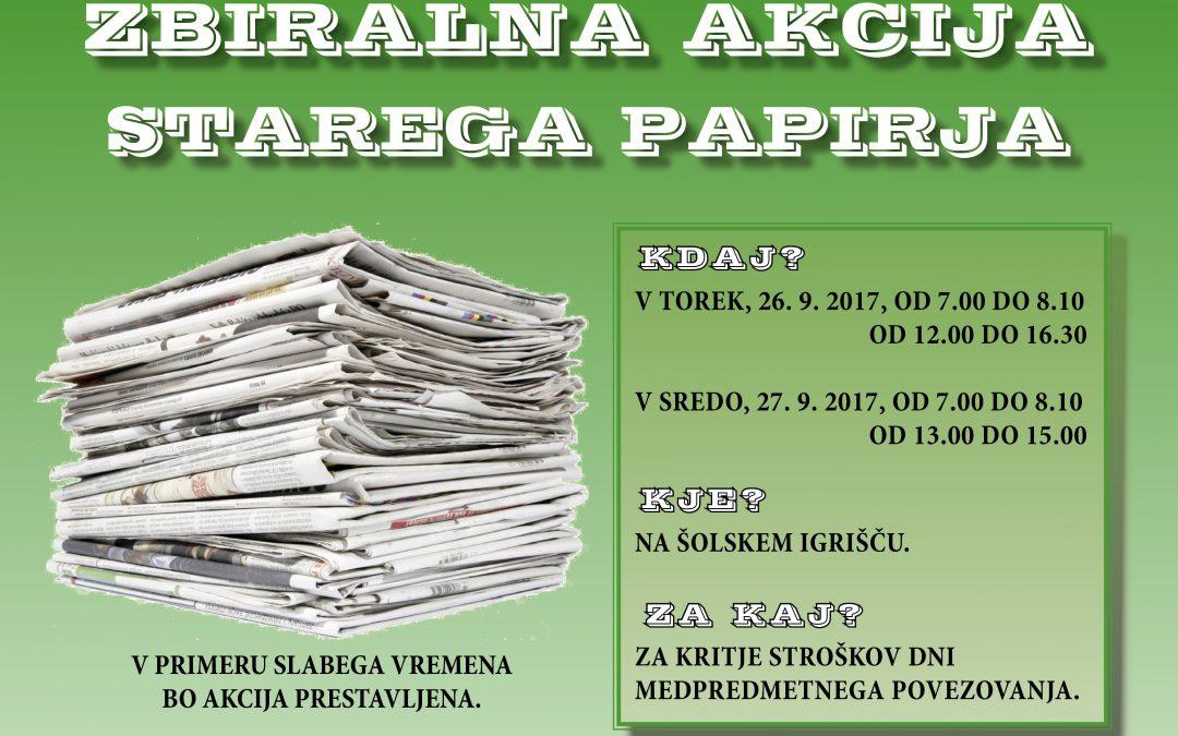 Zbiralna akcija starega papirja